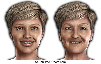 Concept image featuring a women who is ageing.
