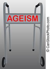 ageism, social, conceito, -