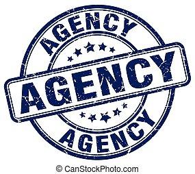 agency blue grunge stamp