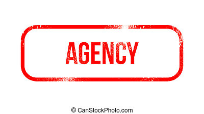 agency - red grunge rubber, stamp