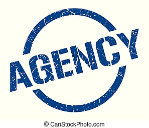 agency stamp - agency blue round stamp