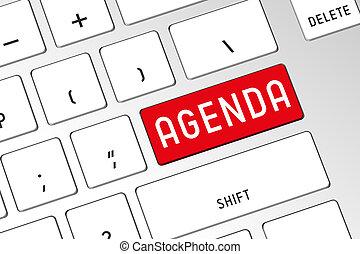 Agenda - 3D computer keyboard