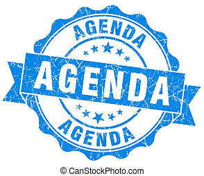 agenda blue vintage isolated seal