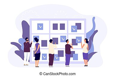 agenda, concept., empresa / negocio, dirección, gente, macho, planificación, hembra, tiempo, trabajo, cita, plano, goals., caracteres, schedule., asignar