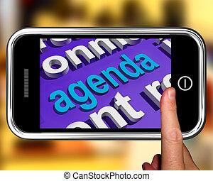 Agenda In Word Cloud Shows Schedule Program - Agenda In Word...