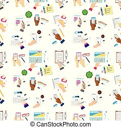 Agenda list concept vector illustration seamless pattern background business note ofiice calendar wishlist checklist shopping list plan to do just