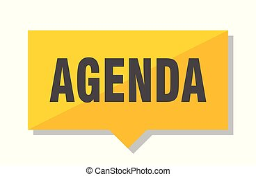 agenda price tag - agenda yellow square price tag