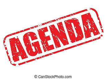 Agenda red stamp text