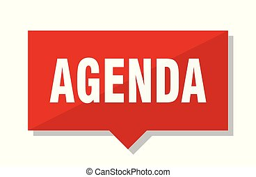 agenda red tag - agenda red square price tag
