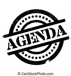 Agenda rubber stamp