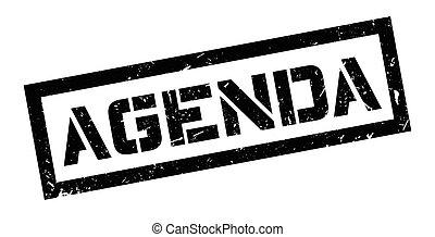 Agenda rubber stamp