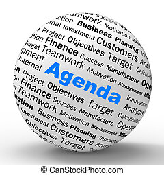 Agenda Sphere Definition Means Schedule Planner Or Reminder...