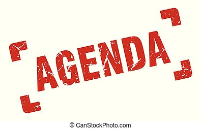 agenda stamp. agenda square grunge sign. agenda