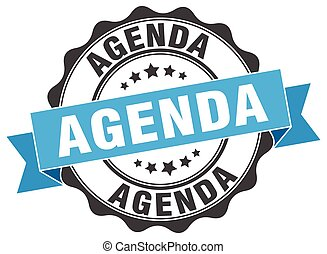 agenda stamp. sign. seal