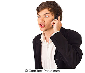 agent affaires fâché