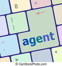 agent button on the computer keyboard