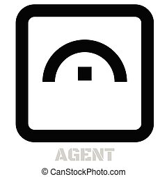 Agent conceptual graphic icon