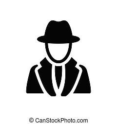 agent glyph flat icon