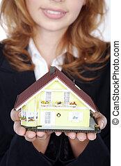 agent immobilier, maison