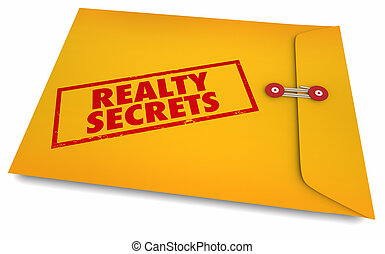 agent immobilier, vente, secrets, maison, enveloppe, illustration, realty, maison, 3d