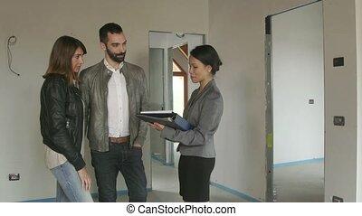 agent immobilier, vrai, agent, contrat, propriété