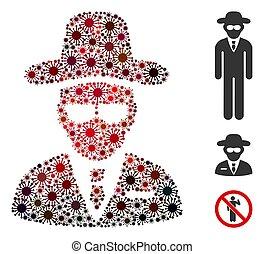 Agent Mosaic of Corona Virus Items