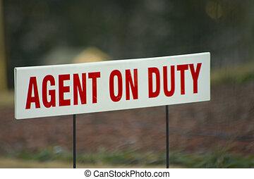 agent, på, pligt