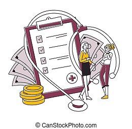agent, santé, discuter, client, assurance