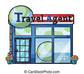 agente de viajes, oficina
