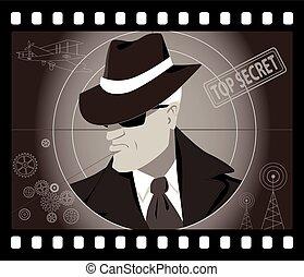 agente segreto, uomo