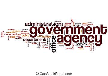 agentur, wort, wolke, regierung