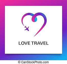agenzia di viaggi, elemento, avventura, giri, app, turismo, viaggi, logotipo, icona