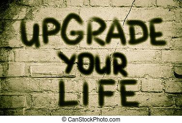 aggiornamento, vita, concetto, tuo