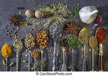 aggiungere, usato, cottura, aroma, spezie