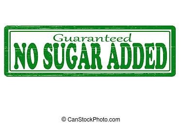 aggiunto, no, zucchero