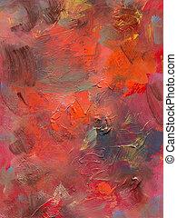 aggloméré, peinture, huile, acryliques