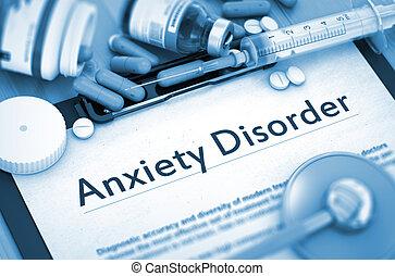 aggodalom, concept., disorder., orvosi