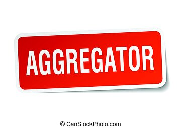 aggregator square sticker on white
