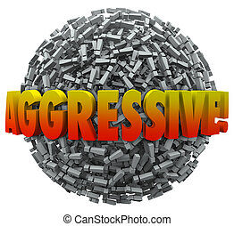 Aggresive 3d Word Exclamation Point Mark Sphere Bold Action
