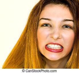Aggresive woman