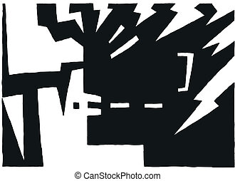 aggression - abstract vector background