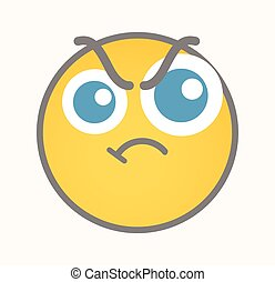 Aggression - Cartoon Smiley Vector