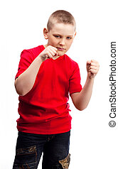 aggressive boy