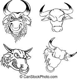 Aggressive bull heads
