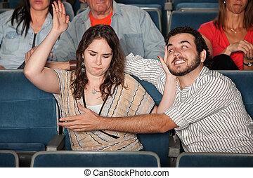 Aggressive date in Theater