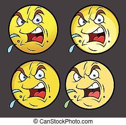 Aggressive Emoji Characters Set
