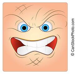 Aggressive Face Box Smiley