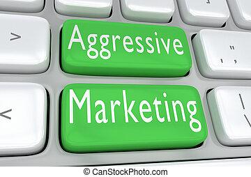 Aggressive Marketing concept