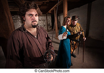 Aggressive Medieval Characters