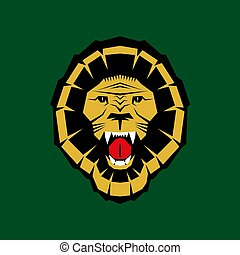 aggressive strong lion head vector illustration simbol